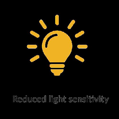 Reduced light sensitivitiy