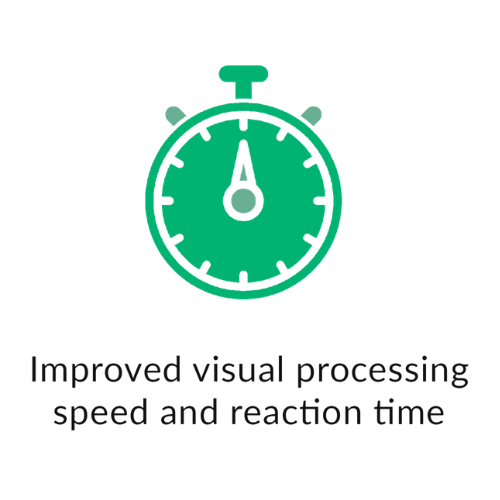 improved visual processing speed and reaction time