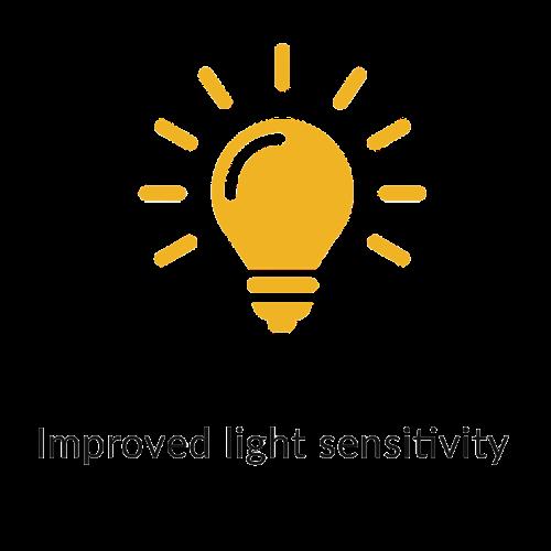 Improved light sensitivity